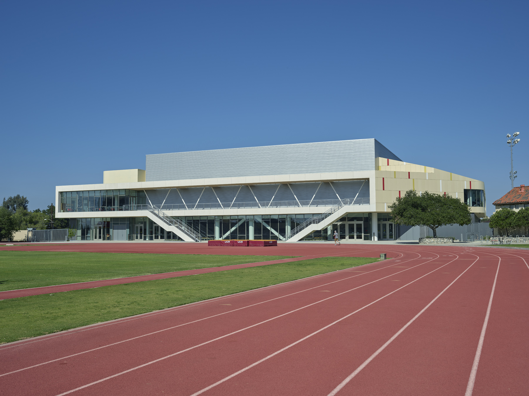 Track and field facade (east elevation)