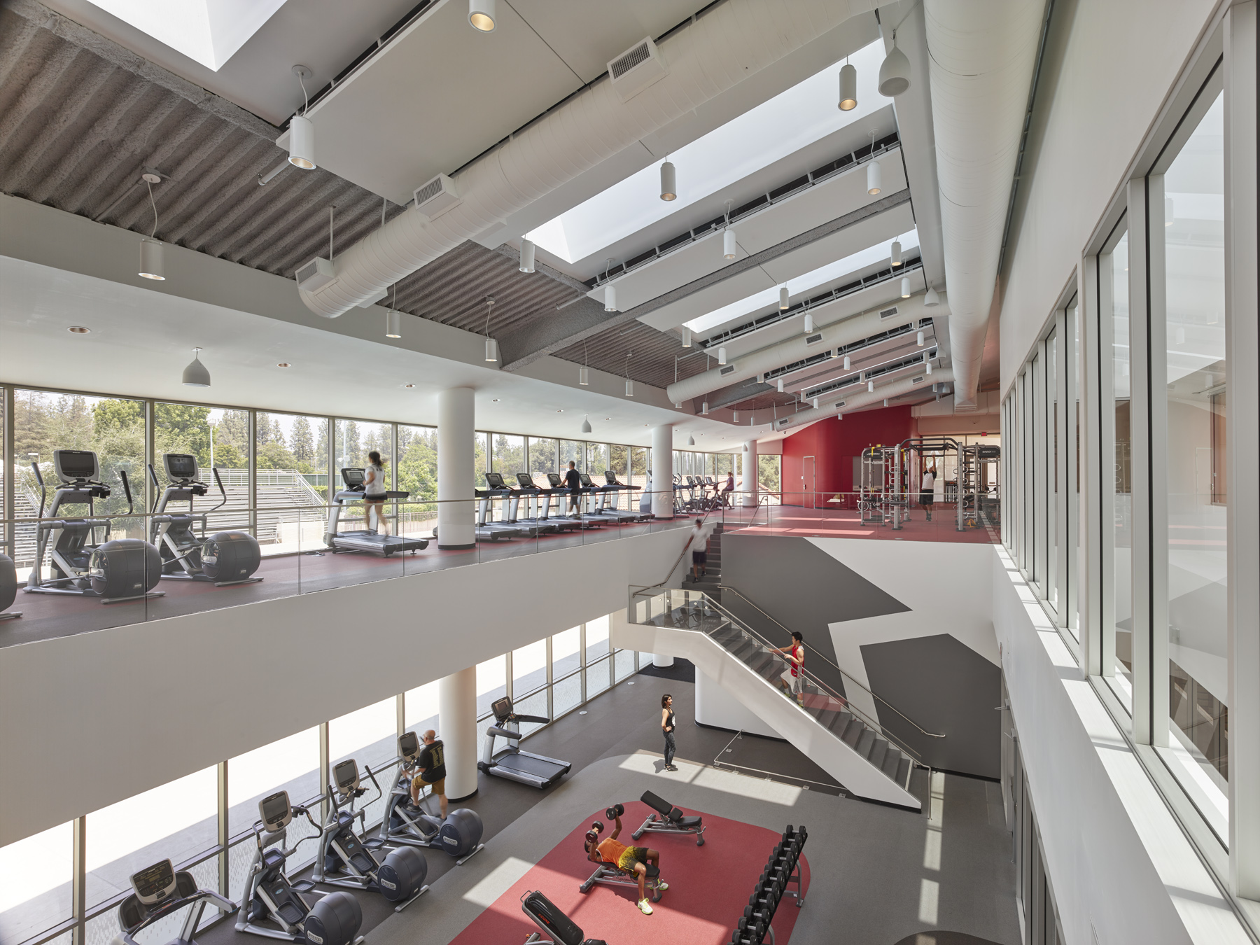 Fitness center from second level
