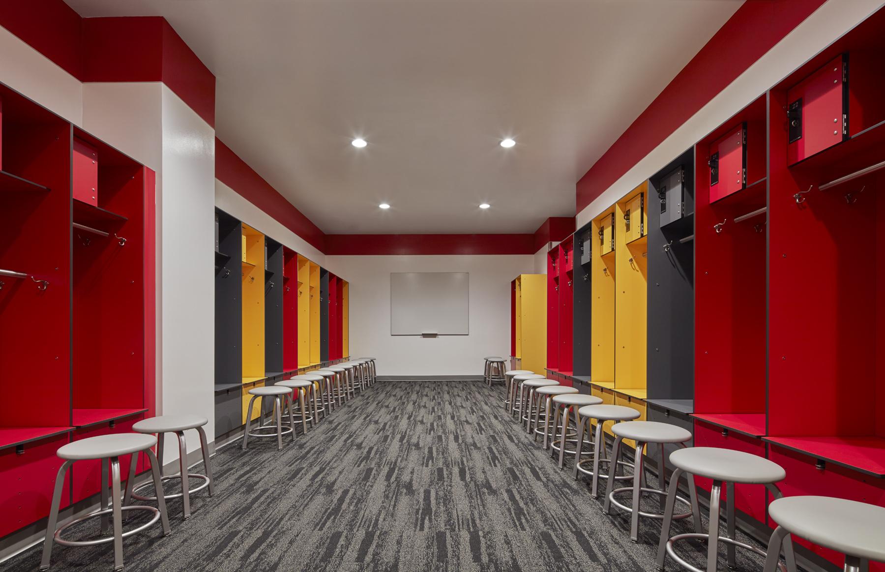 Typical team/locker room
