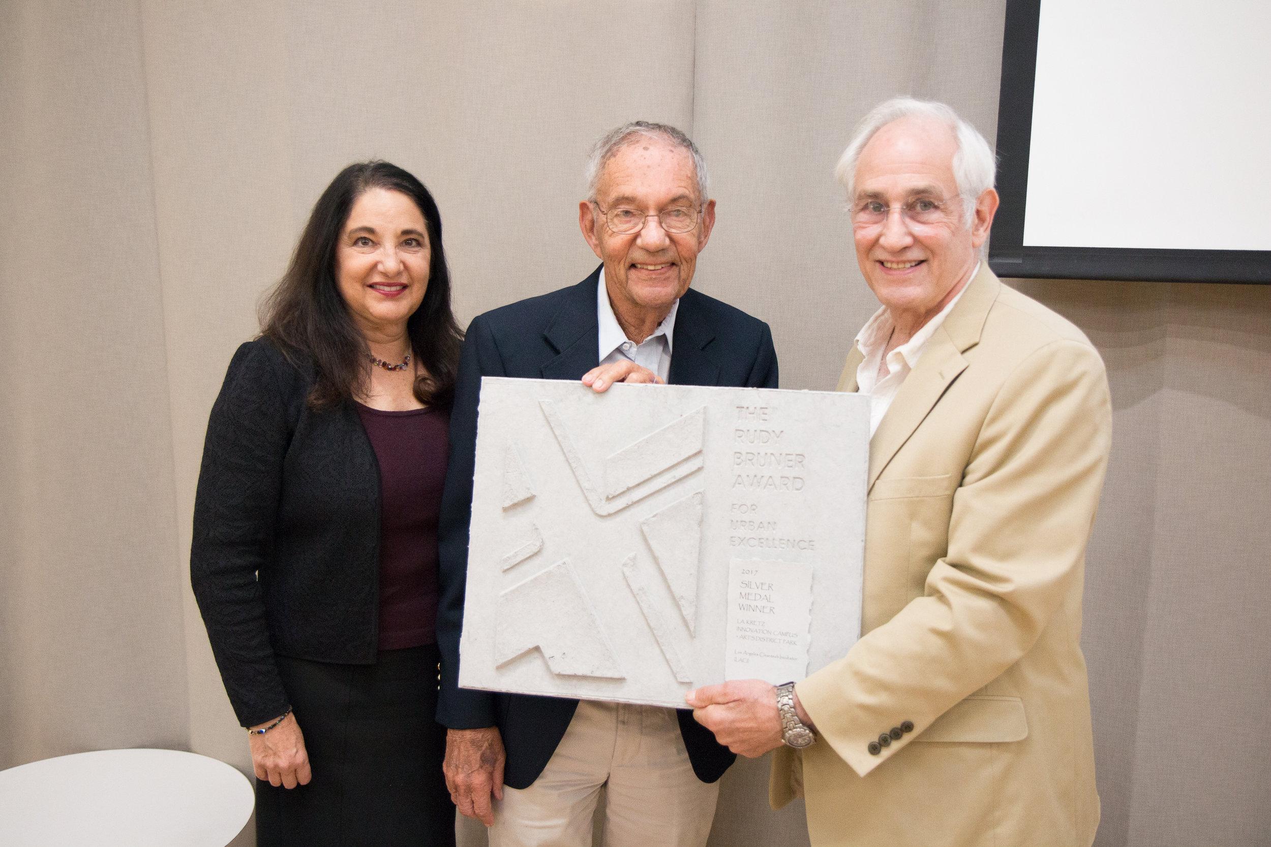 Linda Duttenhaver La Kretz, Morton La Kretz, and Simeon Bruner