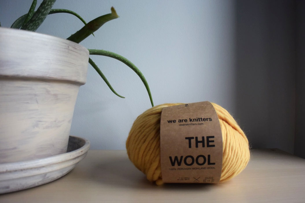 As mentioned above, this is the lovely super bulky The Wool by We Are Knitters in the colorway Honey. You can purchase it  here . This yarn is used in my Fall Collection for the City Sweater - debuting tomorrow on the blog with sneak peaks on  Instagram !