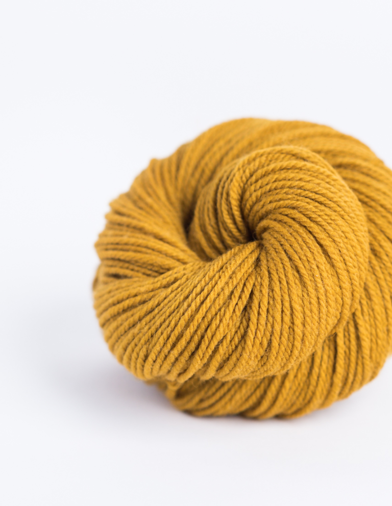 "When Brooklyn Tweed released Arbor, I remember seeing this color & thinking ""Wow, this is basically Gustav Klimt's yellow gold!"". I was studying abroad in Austria at the time & obsessed with everything Viennese - especially Klimt's opulent portraits. Wonderful twist of fate - this color is actually called Klimt! Many of Arbor's colorways are named after the palettes of famous artists. Photo by  Brooklyn Tweed ."