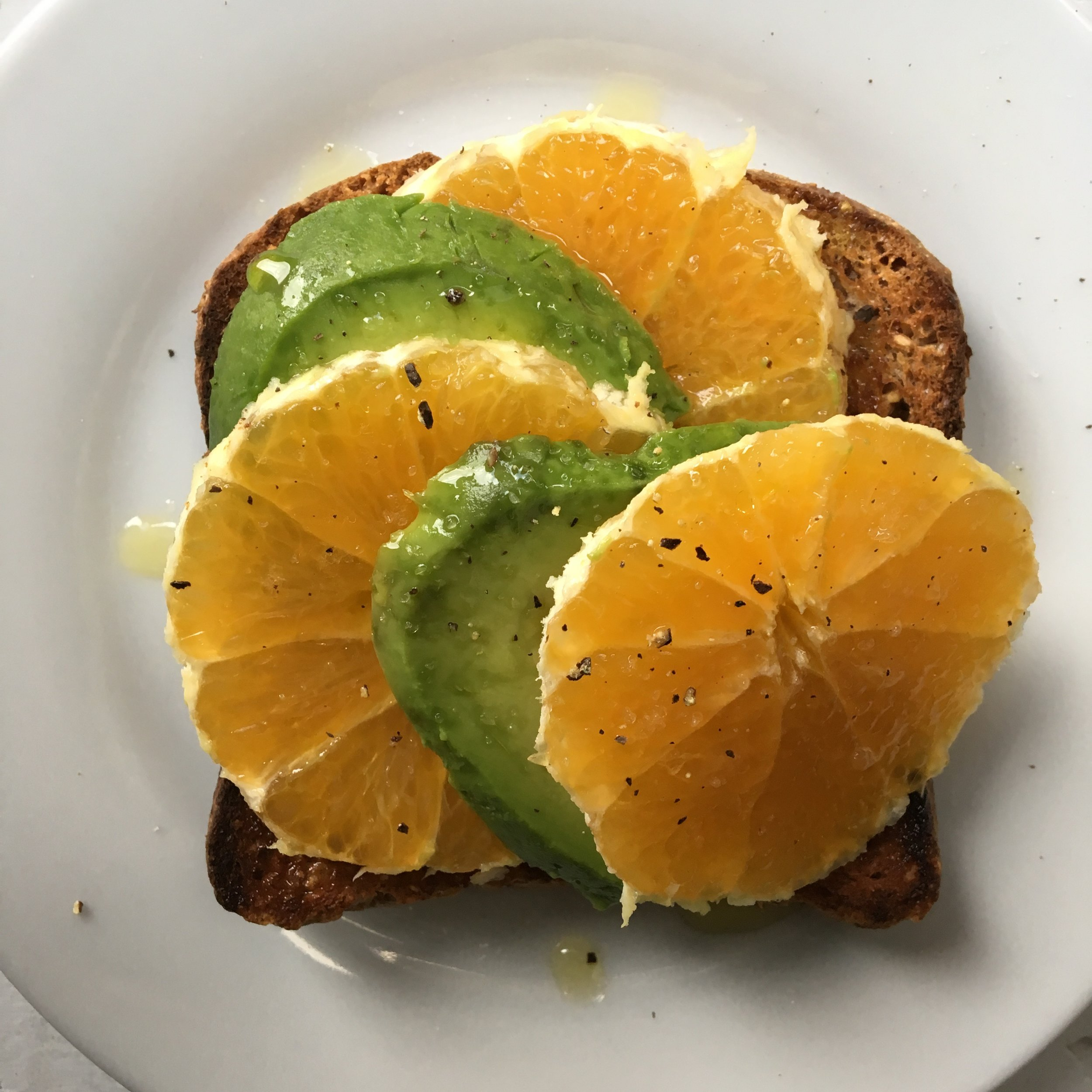 avocado citrus toast