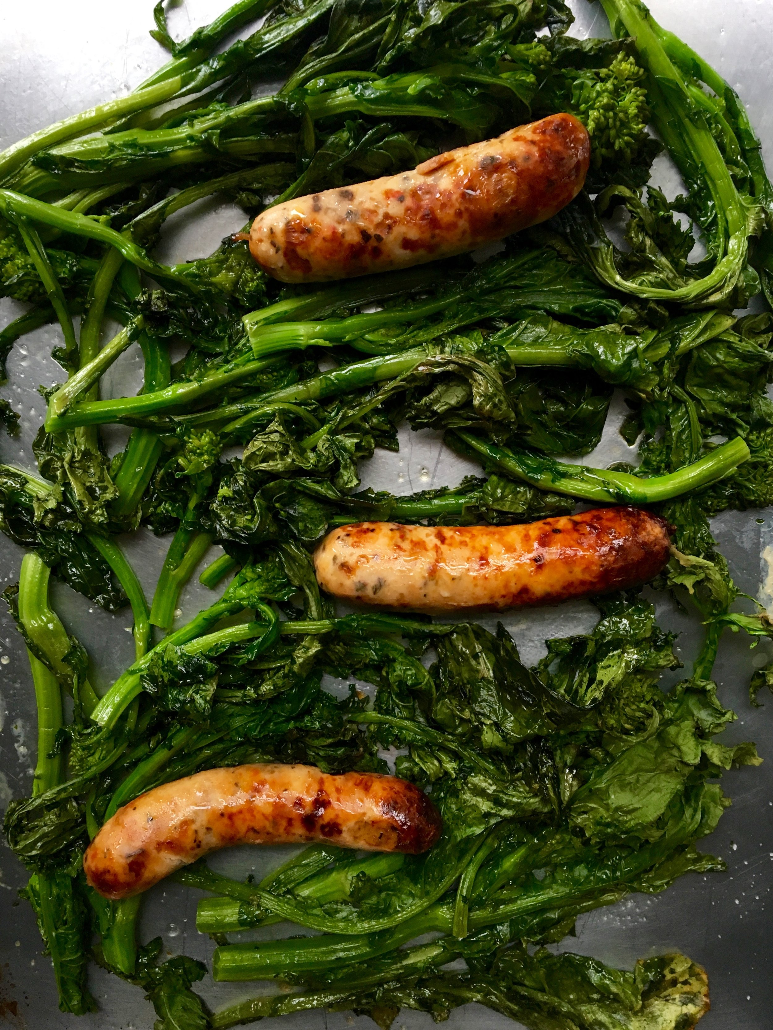 broccoli rabe with chicken sausage