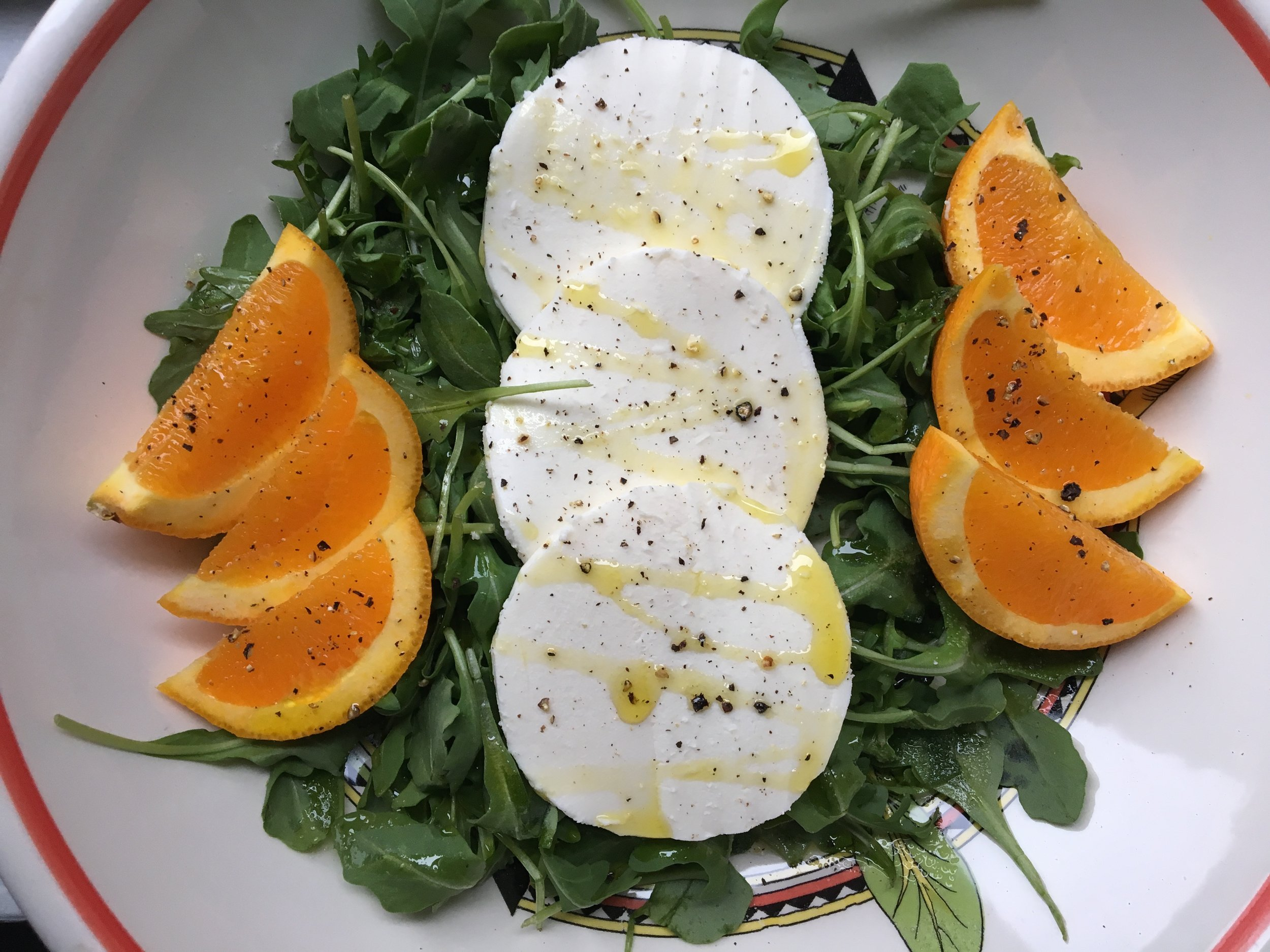 mozzarella + citrus salad