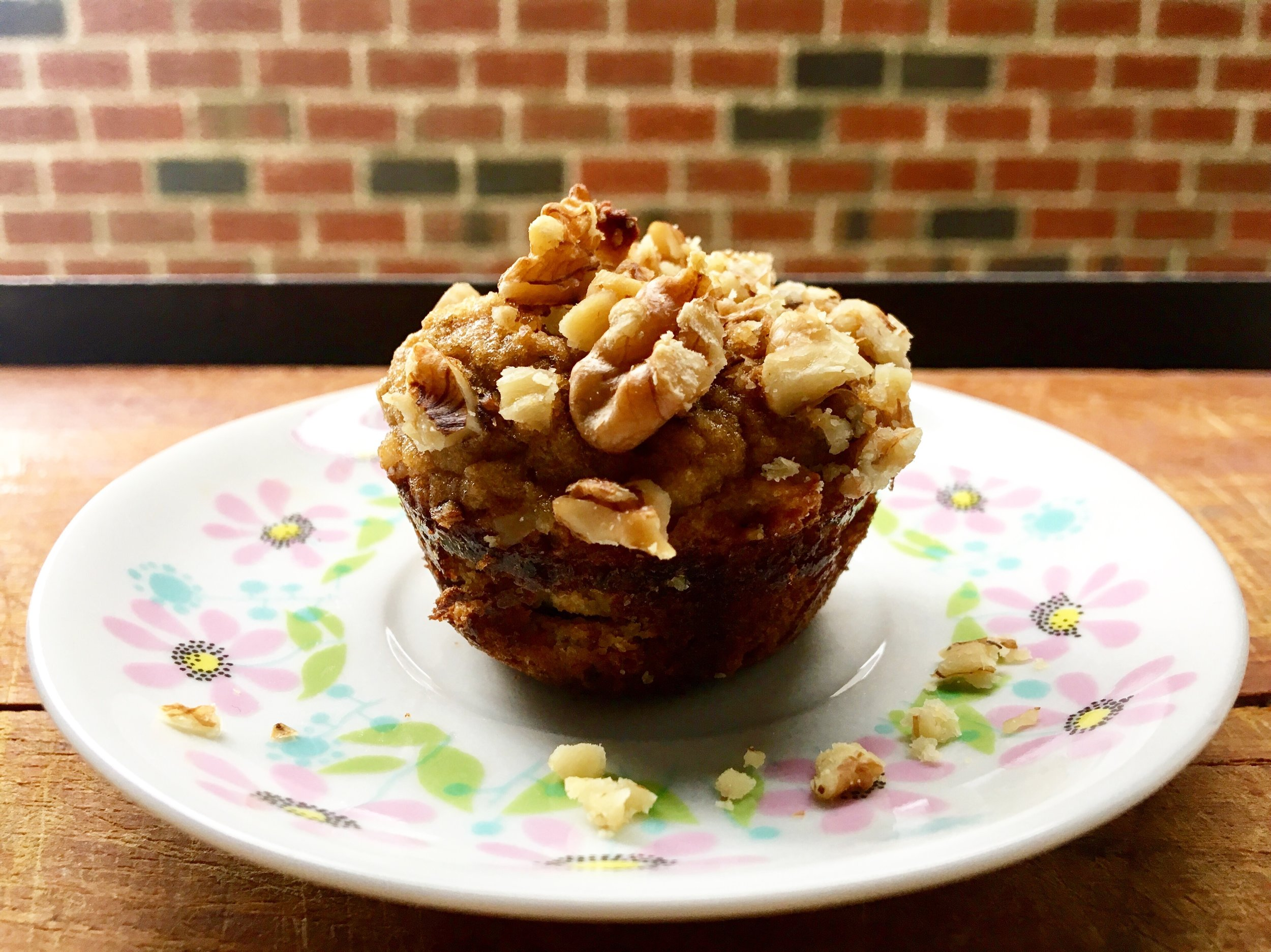 up close: grain free banana nut muffin