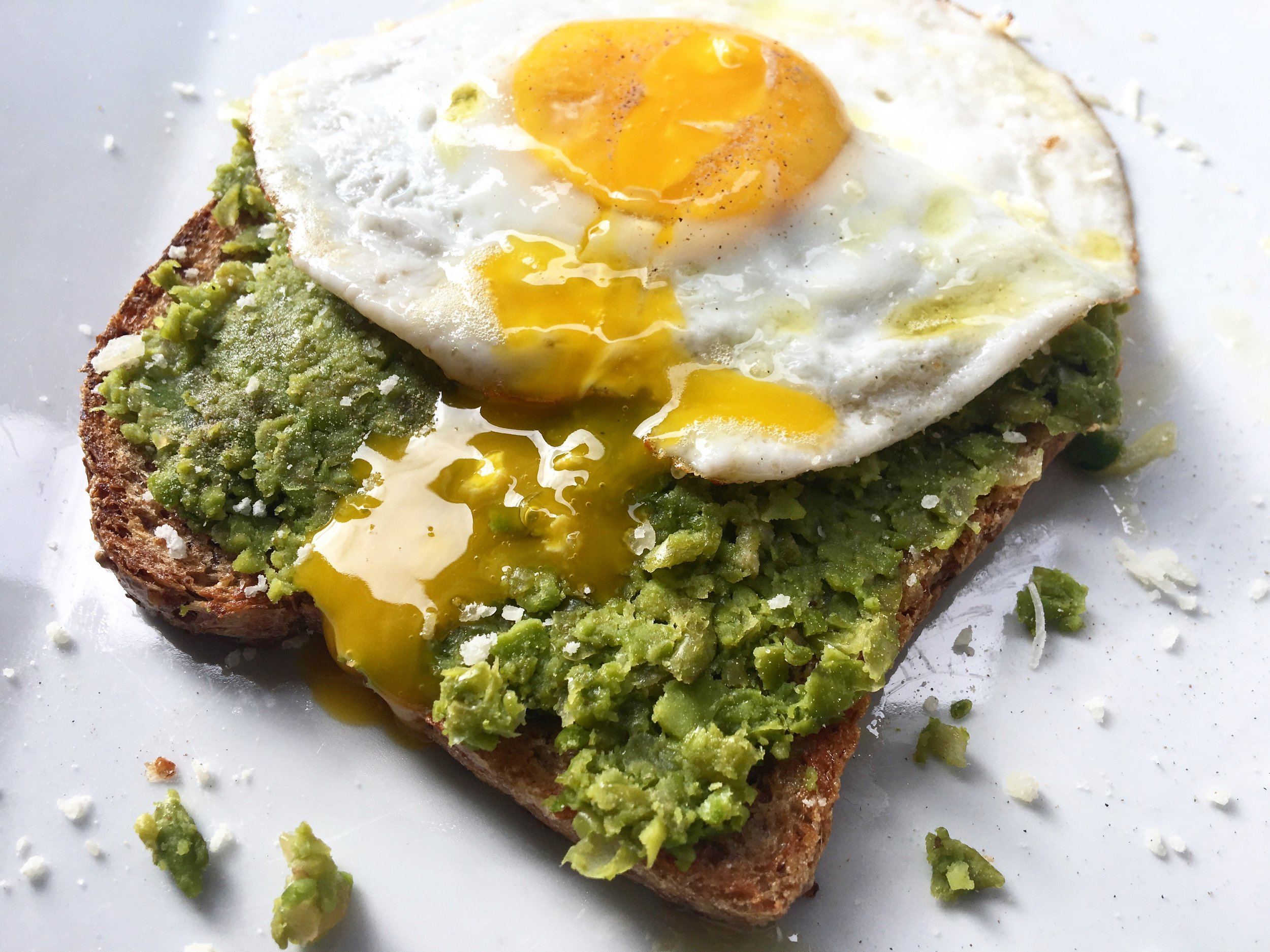 pea toast (after the yolk break)