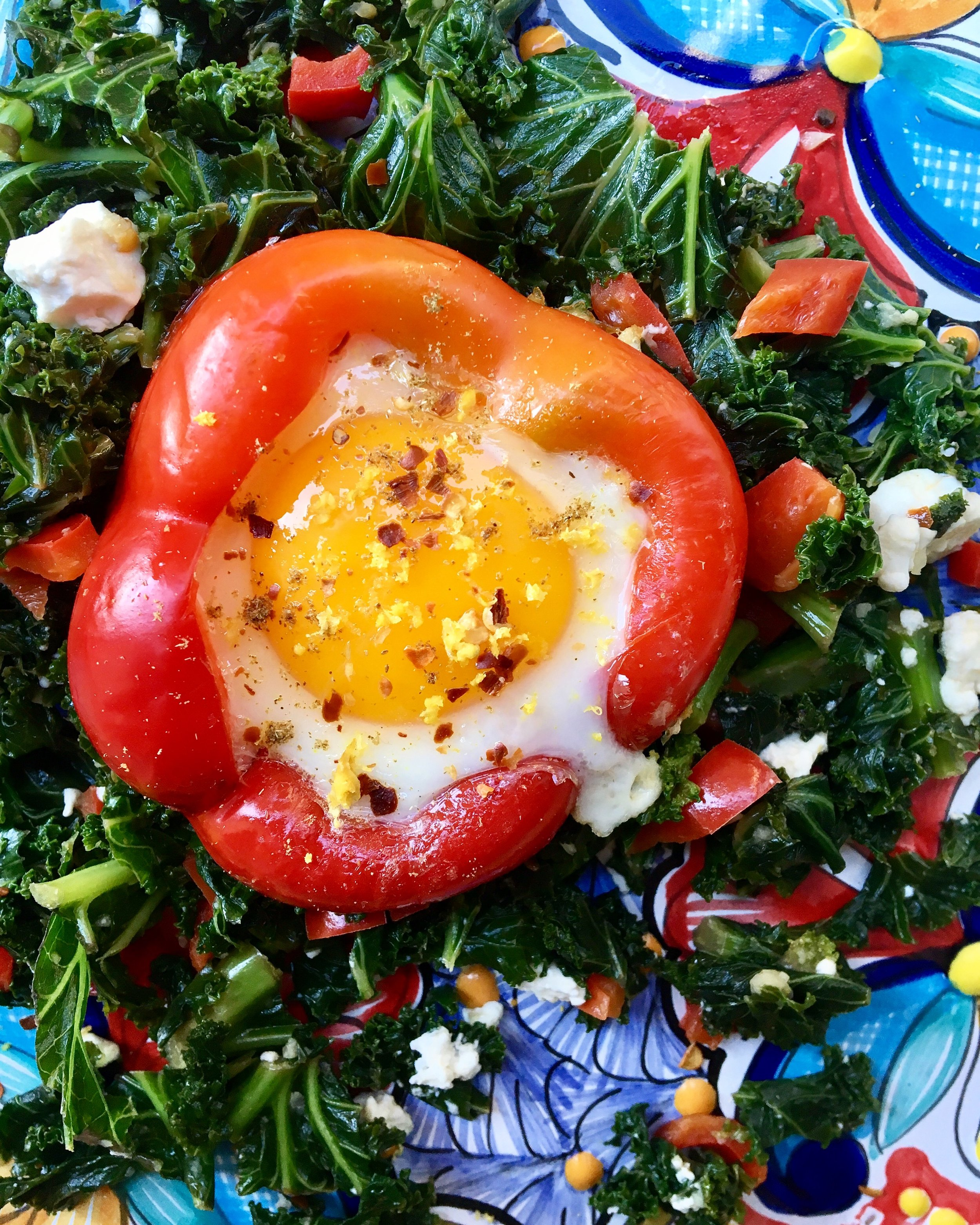 Pepper / Sunny Side Up / Spicy Kale