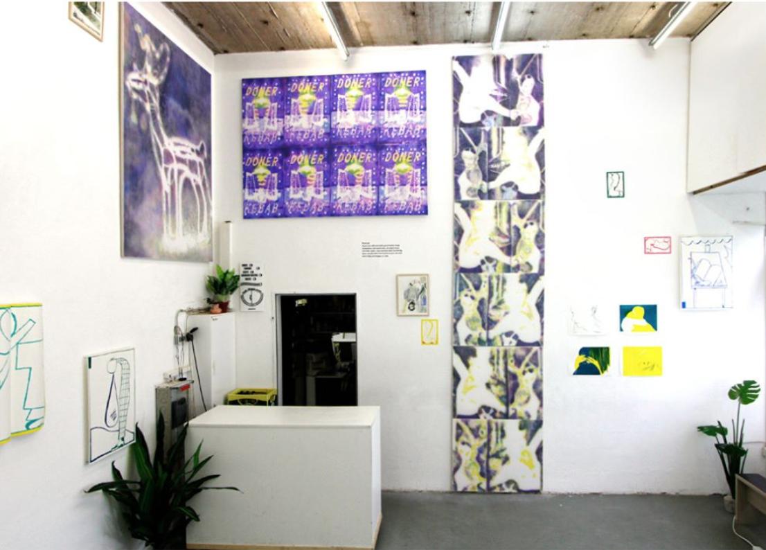 "Draw Me exhibited in the group exhibition ""Inselform"", featuring works by Cortney Cassidy, Ephameron, Siemen Van Gaubergen, and Lasse Wandschneider."