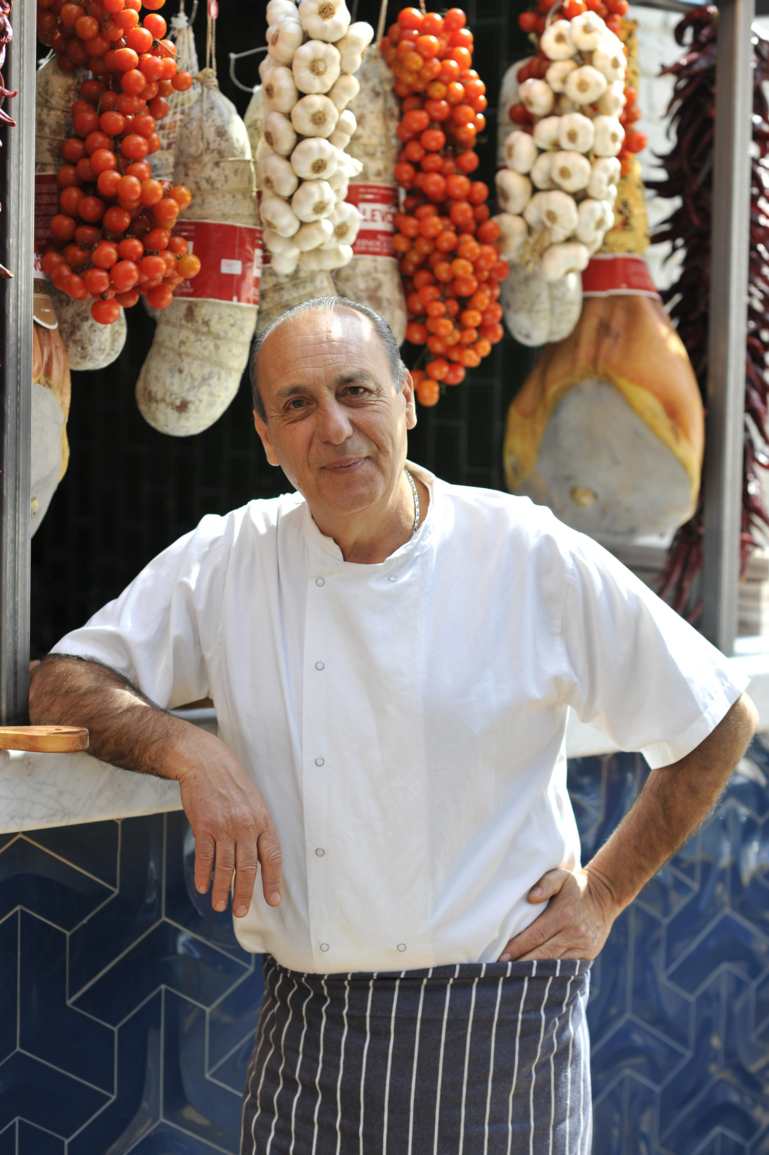 Chef and restauranter Genaro Contaldo at Jamie's Italian in Grenwich