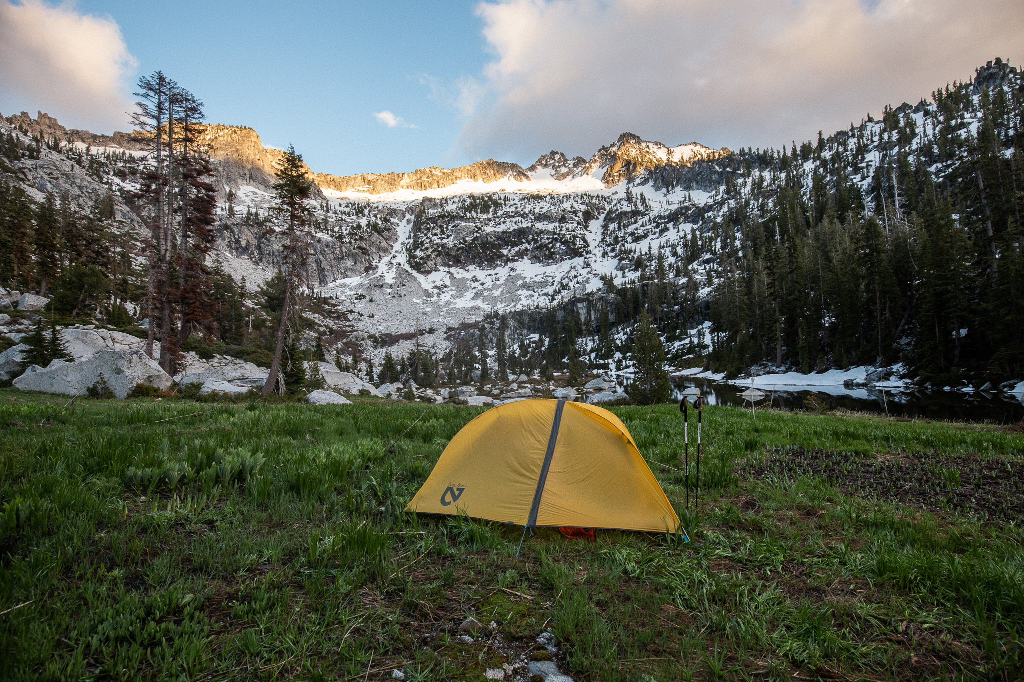 Camping @ El Lake in the Trinity Alps.