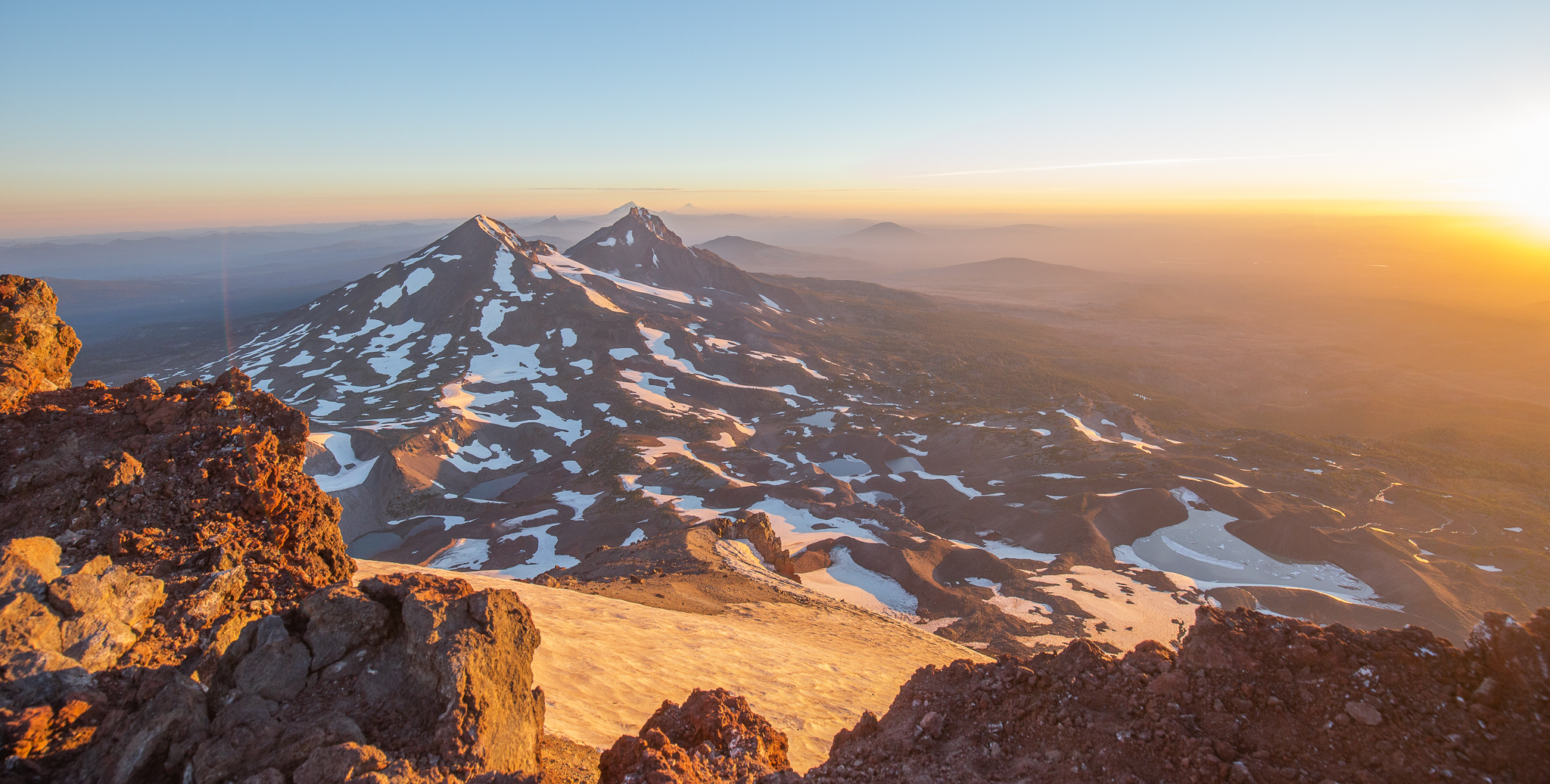 Sunrise atop South Sister.