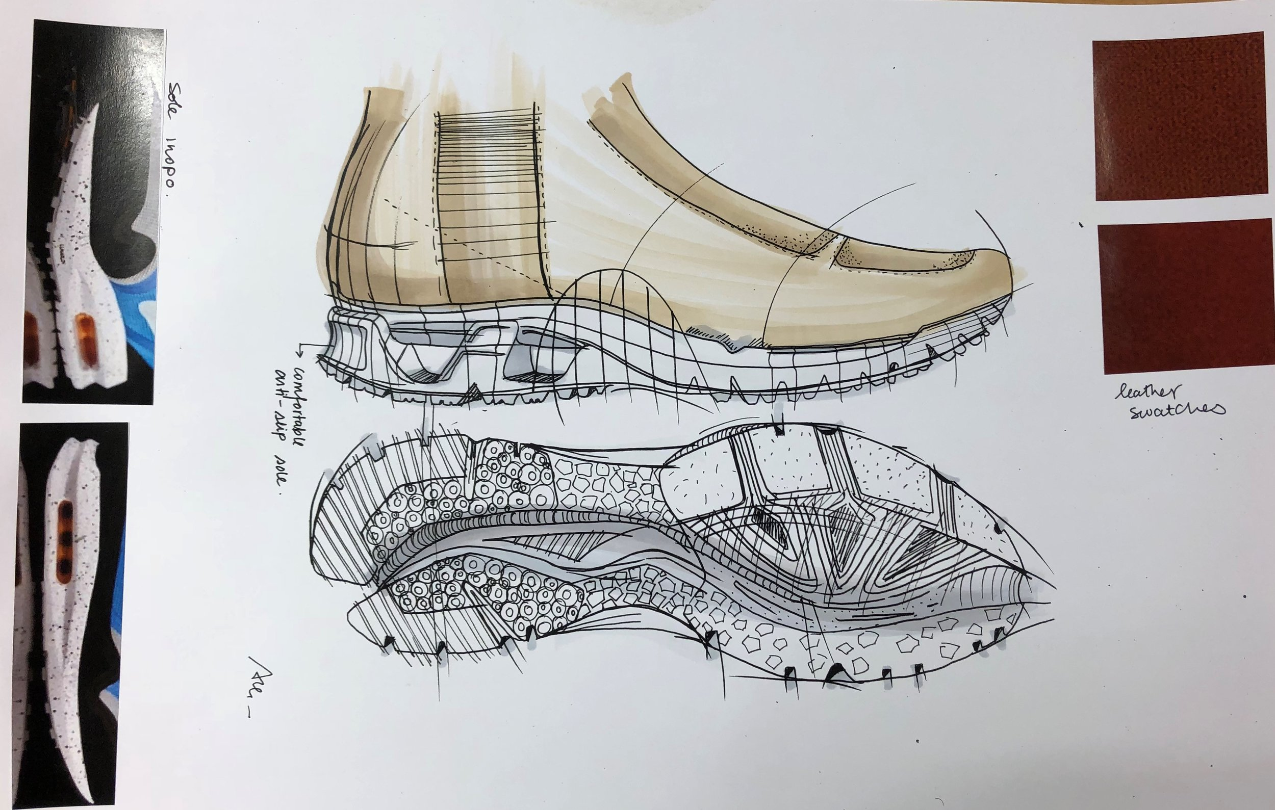 Detail sketch for commuter boot