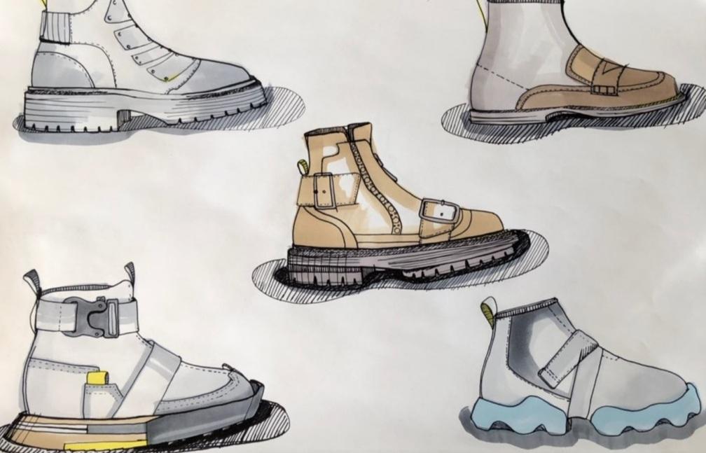 Developmental sketch: boots