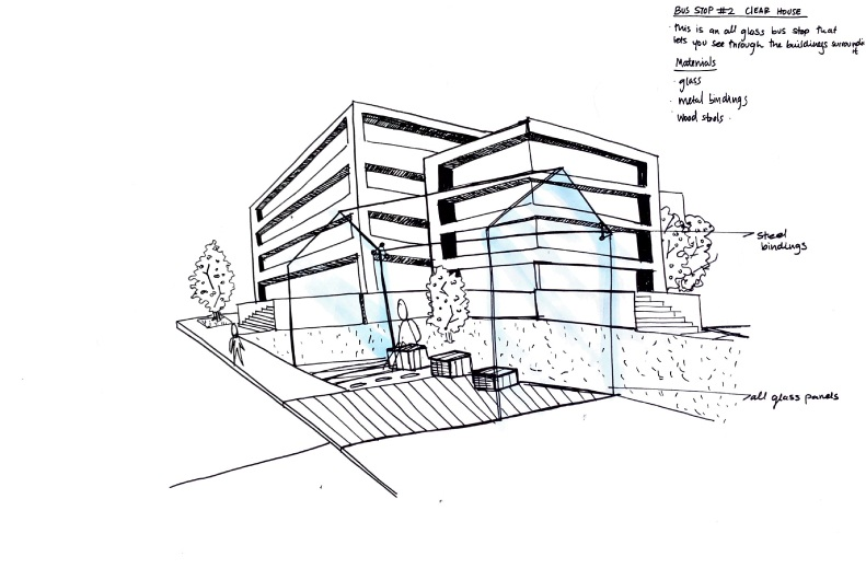 Developmental sketch: Bus stop