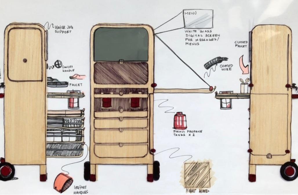 Microkitchen developmental sketch