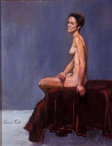 Nude On Red Velvet