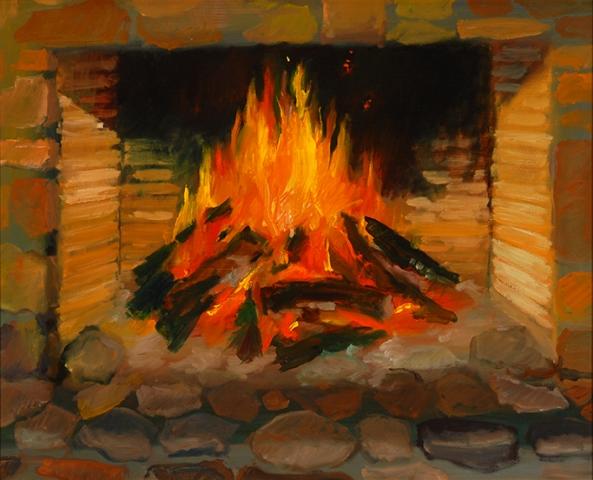 Winter Fireplace