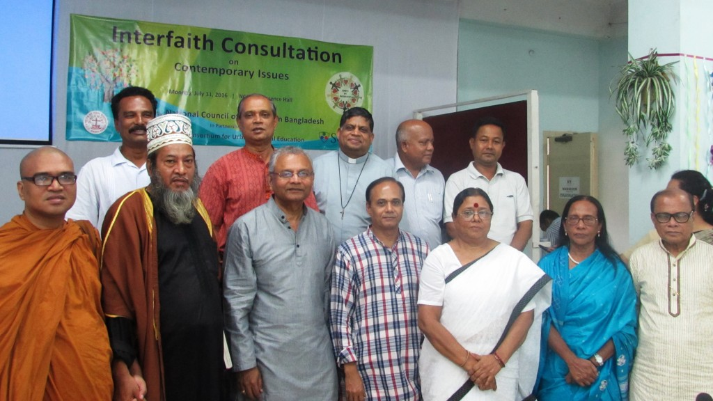 Interfaith Consultation Leadership Team convened by the national council of churches of bangladesh.