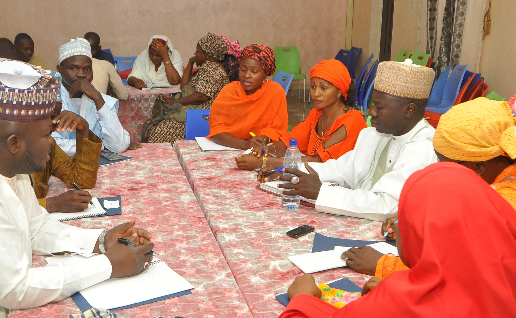Diversity was key to the success of the training. Here, men and women, muslim and christian, clergy and laity, all came together to tackle common concerns.