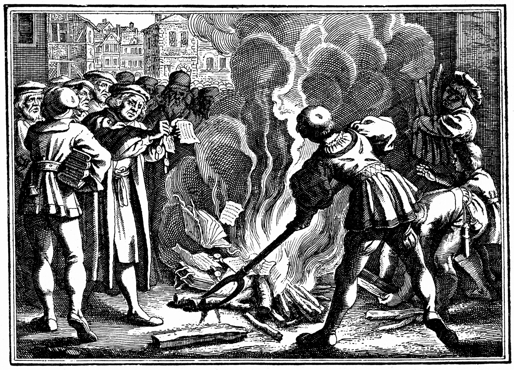 Martin Luther burning Papal bulls / Getty Images