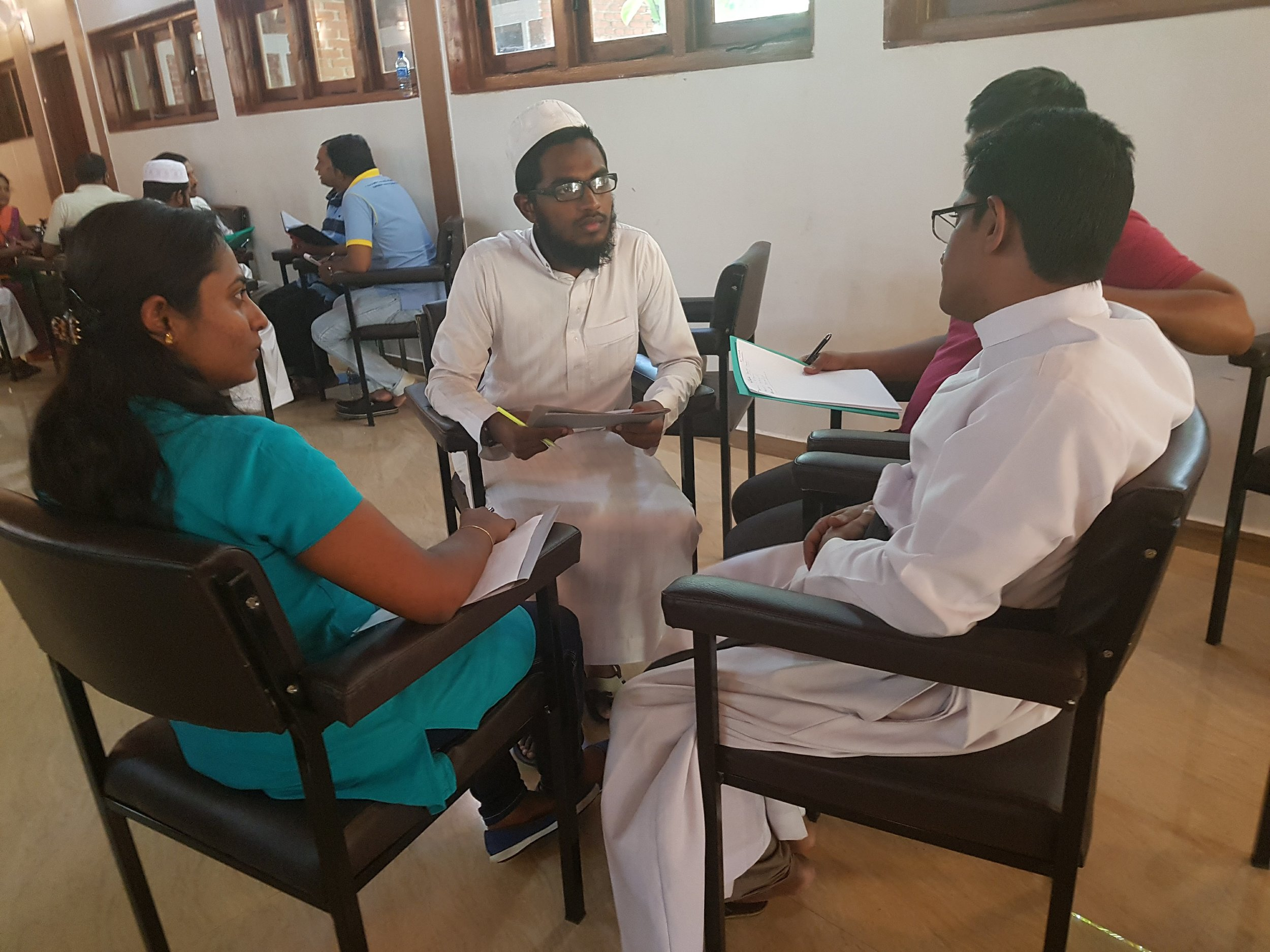 Hindu, Buddhist, Christian, and Muslim Leaders all participated in OMNIA's Leadership Training Event in Kandy, Sri Lanka in February of 2018