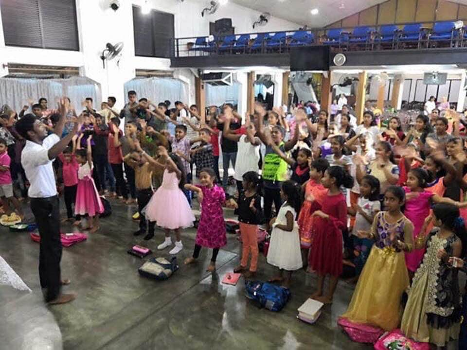 Easter Sunday worship at Zion Church in Batticaloa, Sri Lanka seconds before a terrorist bomb attack.