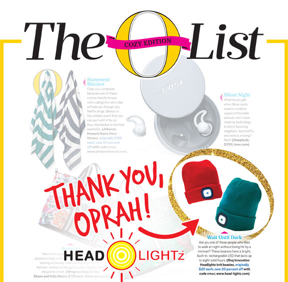 As featured in the January issue of O The Oprah Magazine -
