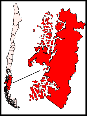 Chile's 11th Region: Aysén, shown in red
