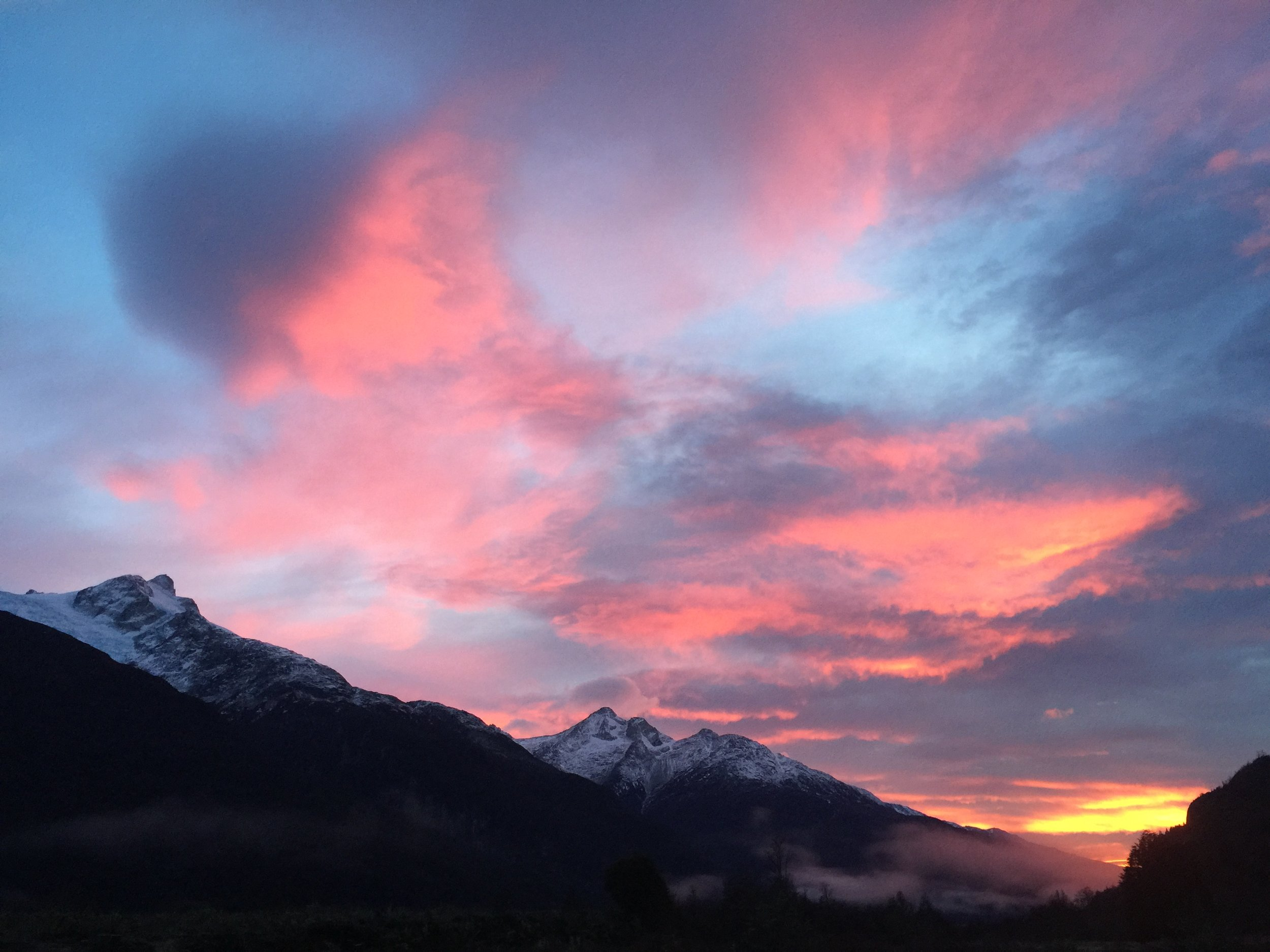 Winter Sunset over Colonia Valley