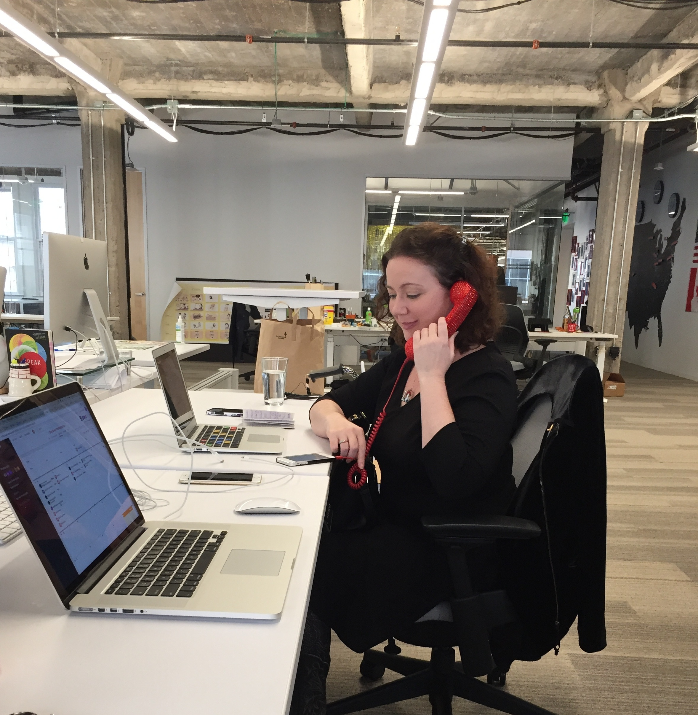 photo: Sarah Glanville  a recruiter using an early scripting test
