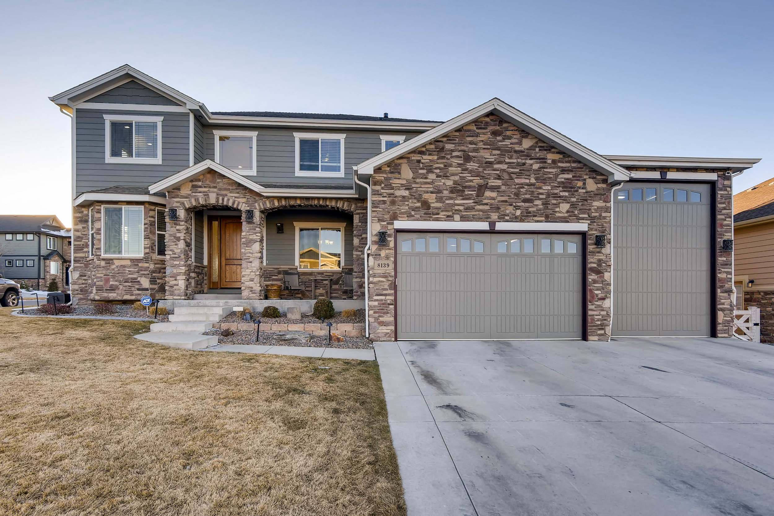 An extraordinary home sitting on a corner lot and backing to beautiful open space. Walking in the front door you will feel the comfort of the layout and the quality of the finishes. Kitchen overlooks into the living room with high detailed ceilings. Office has built in cabinets with granite tops. Doing laundry will no longer be a chore with location on the second floor. Basement features a well thought out design with wet bar, surround sound, and media wiring. There is an additional bedroom, bathroom, and game/workout room. Backyard patio overlooks natural gas fire pit and basketball court. Oversized heated garage with room for your new RV. This home has it all! WON'T LAST LONG!