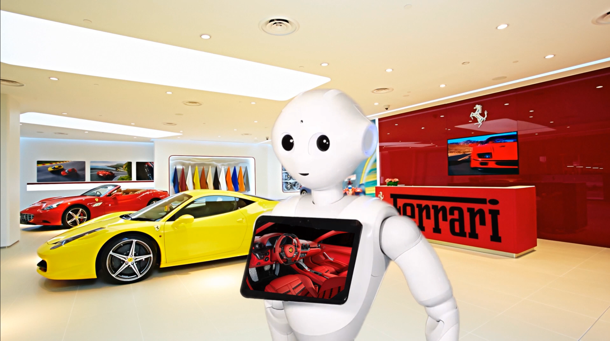 Pepper The Car Saleman - What if a friendly Robot could chat with customers in your car showroom waiting area ? What if a friendly Robot could show customers all your cars for sale.........................read more