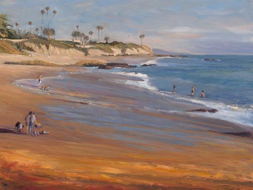"Coastal Scene  36"" x 48"""