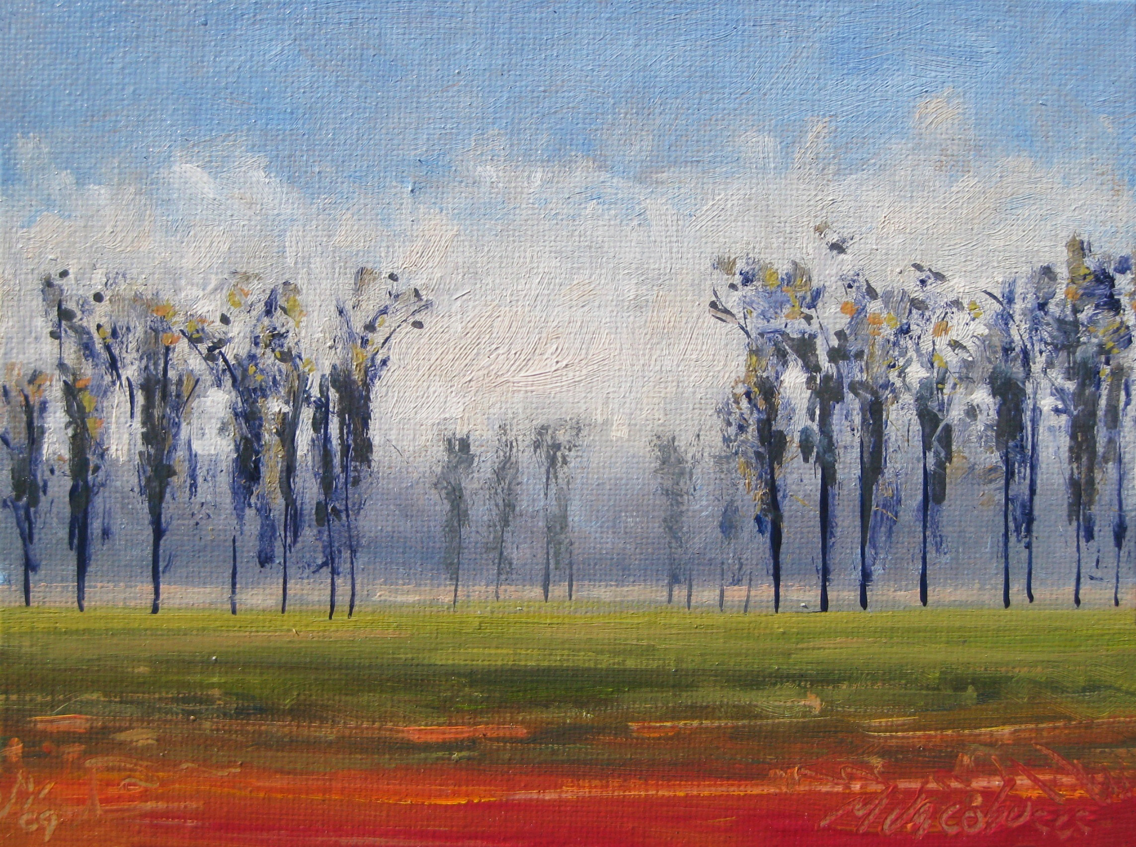 Field in Autumn 6 x 8