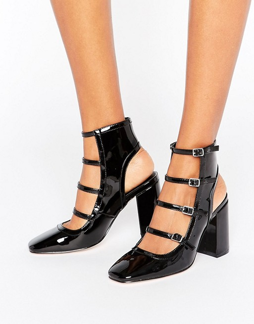 ASOS EKLIS Multi Buckle Shoe Boots