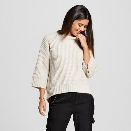 Women's Trapeze 3/4 Sleeve Pullover Sweater - K by Kersh
