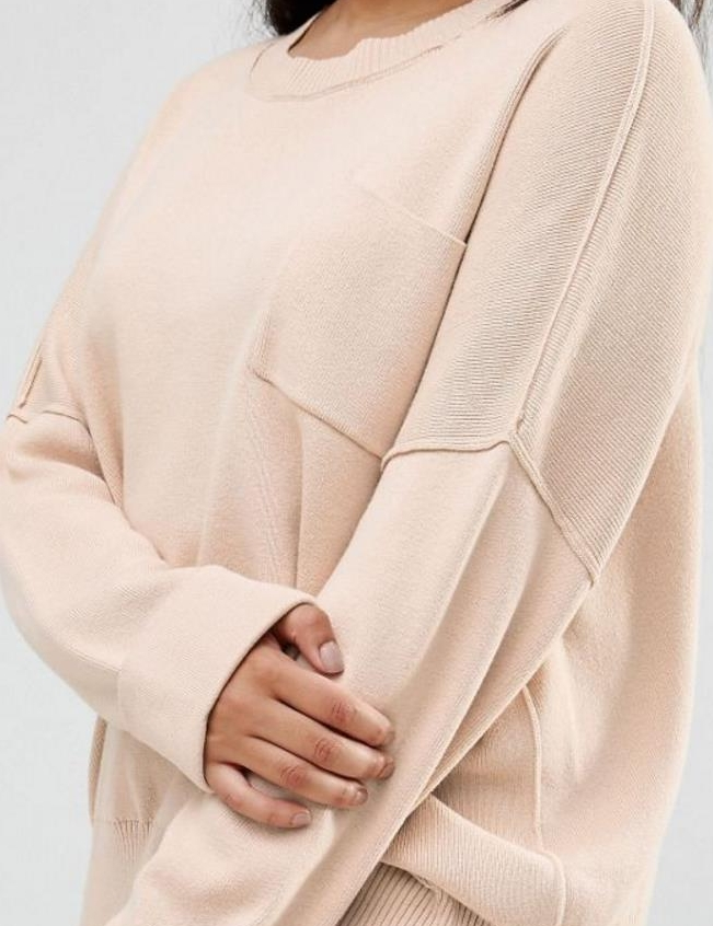 ASOS CURVE Sweater with Pocket