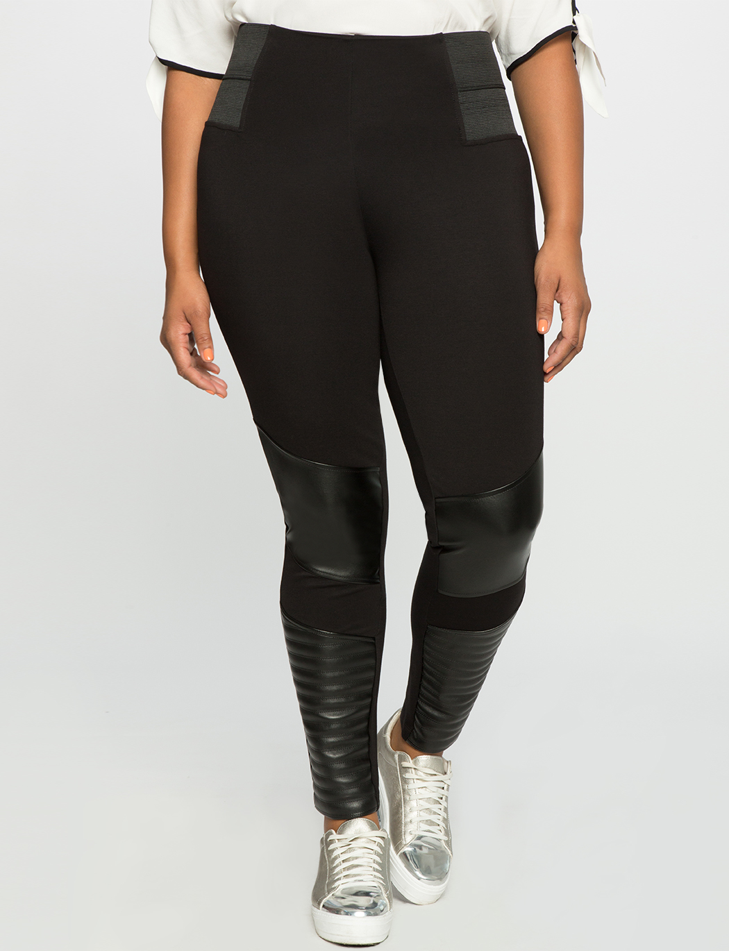 Miracle Flawless Faux Leather Moto Legging