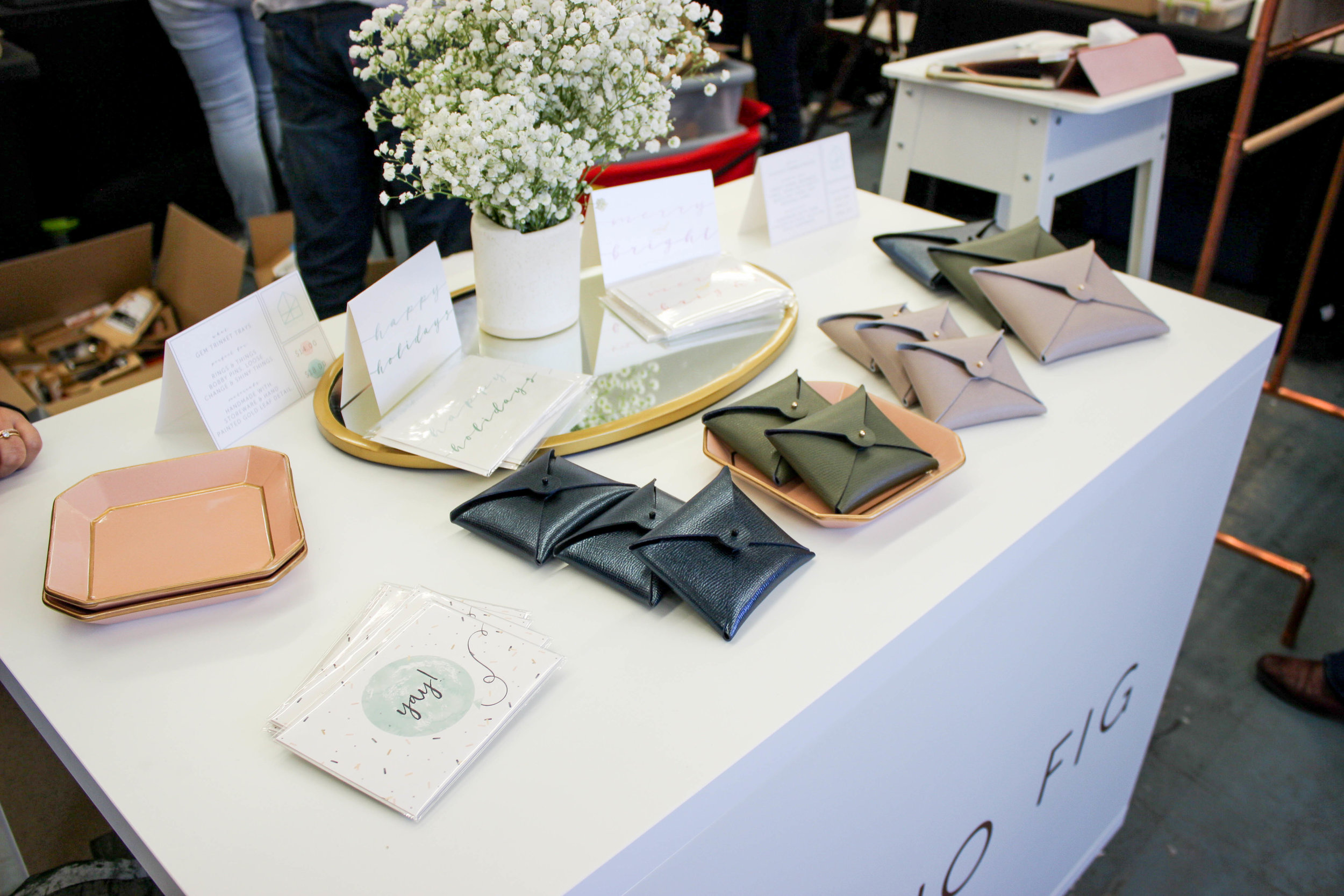 Checking out my amazing girl, Amal Iqbal's table for her label  Studio Fig