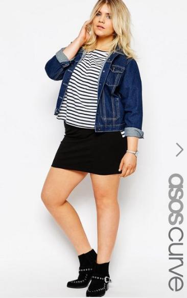 ASOS CURVE Mini Skirt In Jersey