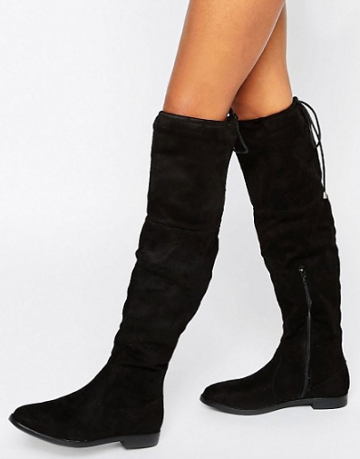 Truffle Flat Over The Knee Boot