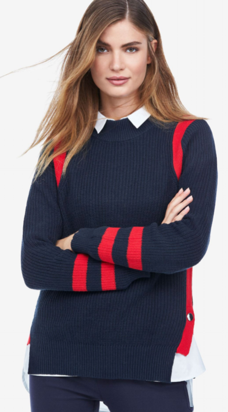 Side Stripe Mockneck Sweater - Detailshttps://www.ellos.us/products/side-stripe-mockneck-sweater-by-ellos/1034748.html $42.90