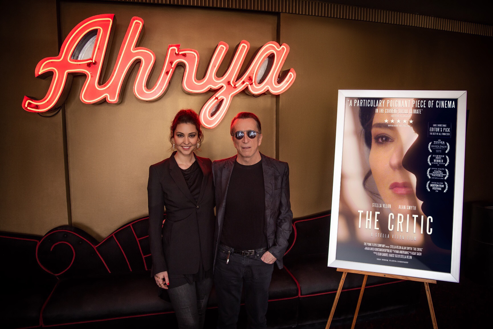 Actress/Writer/Director Stella Velon & Producer Jean Gabriel Kauss presenting 'The Critic' at Ahrya Fine Arts  Photo by: Eddie Ruvalcaba