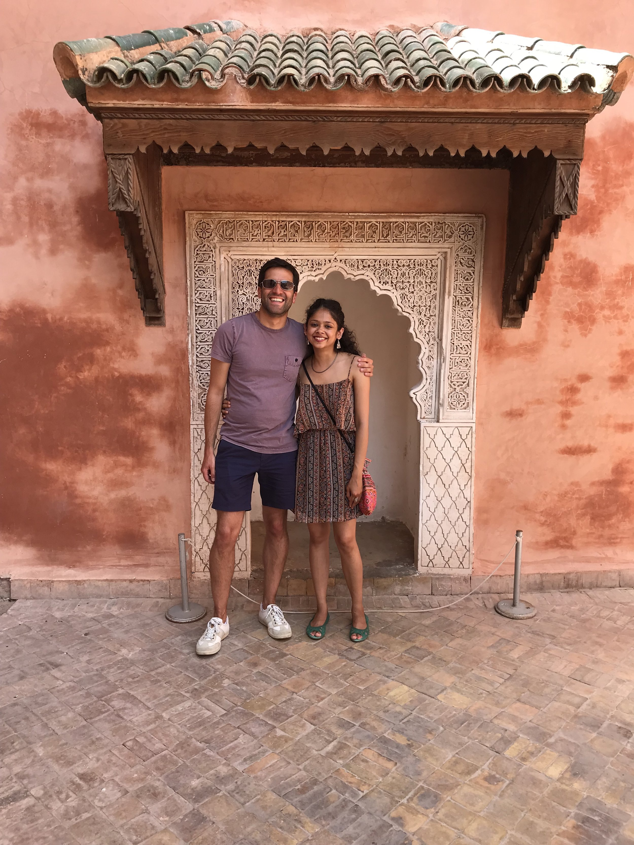 Anisha and Zach in Marrakech