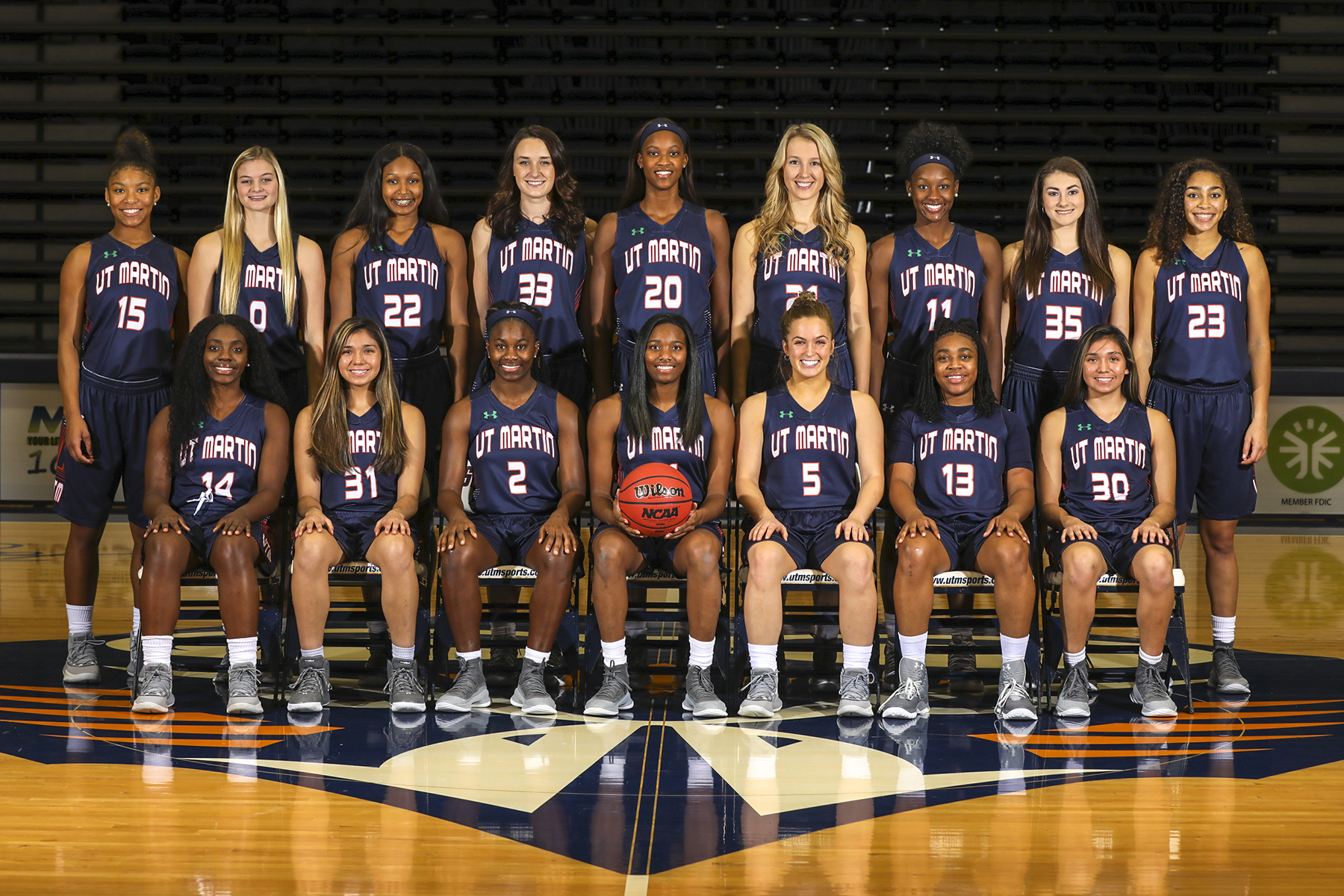 2018-2019 UT Martin' Women Basketball Team