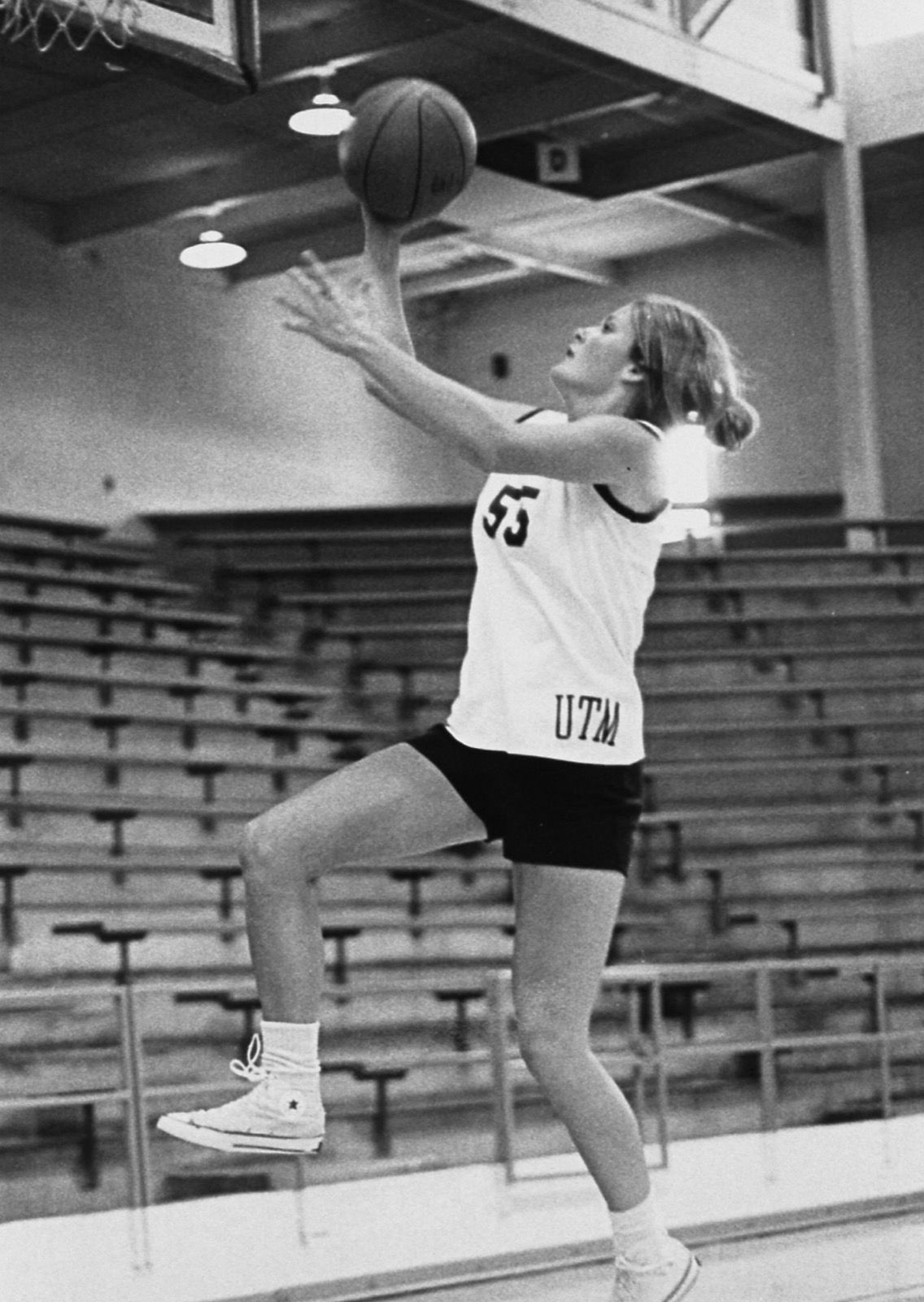 Above is Pat Head Summitt going up for a lay-up.