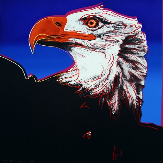 Andy Warhol's Bald Eagle, from  Endangered Species