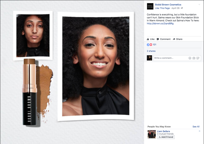 Bobbi Brown Facebook AD - See Perfect Skin Campaign