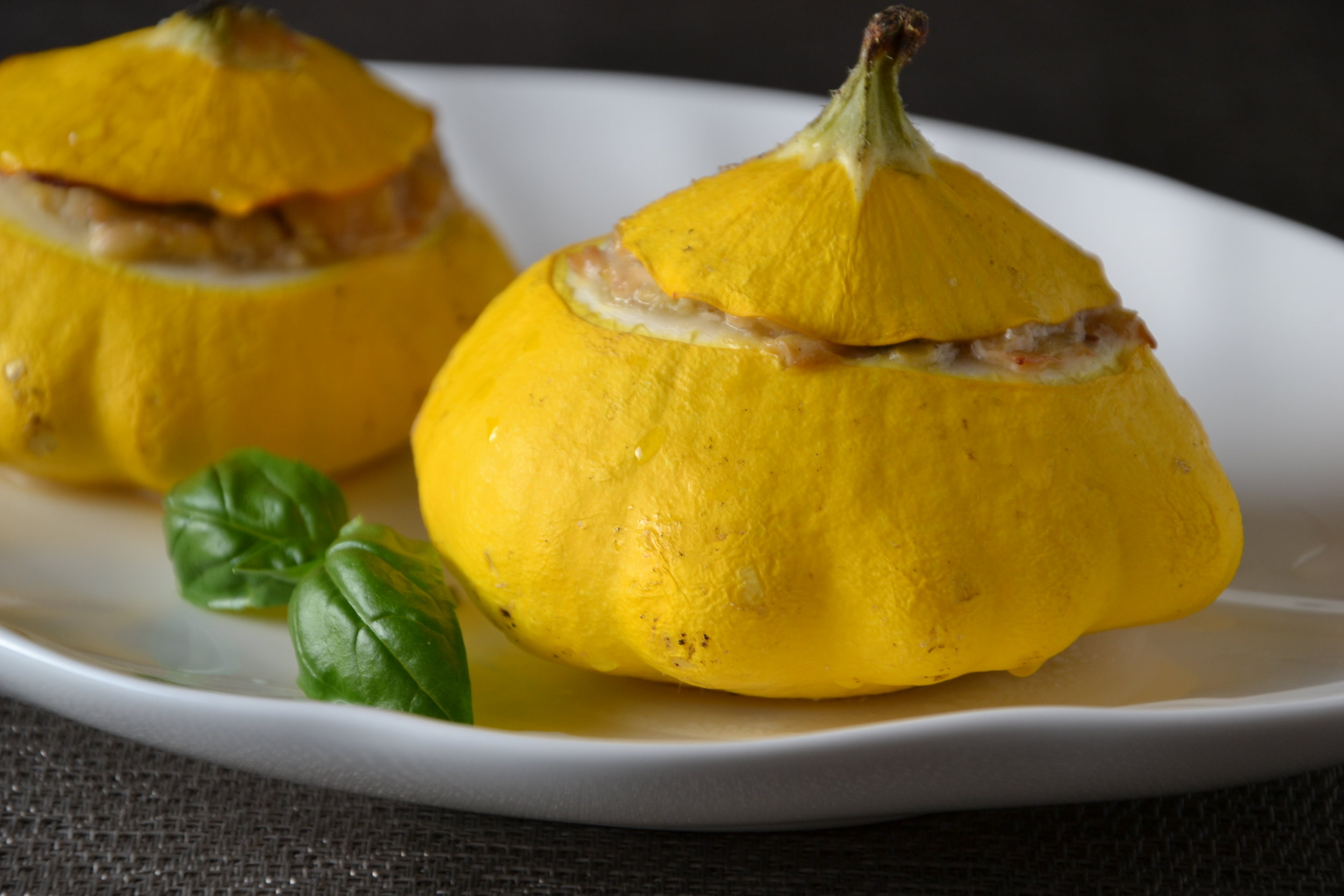 Roasted Stuffed Patty Pan Squash